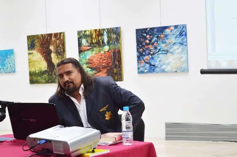 """Академик Цветан Гайд на Kонференцията """"Древната писменост по нашите земи, декодирана по Метода Гайд"""", РИМ Враца"""