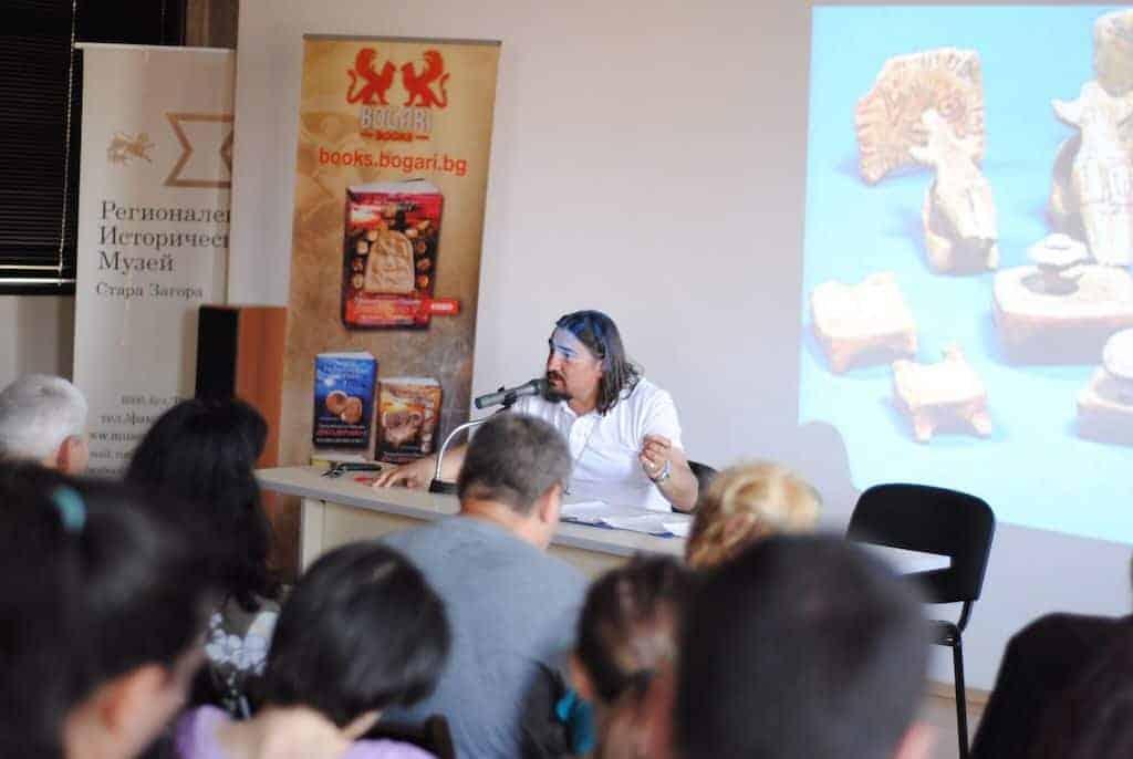 Академик Цветан Гайд на представянето на книгата Тракийското Писмо Декодирано V в Стара Загора на 08.06.2018